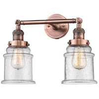 Innovations Lighting 208-AC-G184-LED Canton LED 17 inch Antique Copper Bathroom Fixture Wall Light