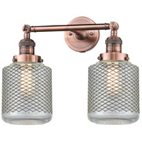 Innovations Lighting 208-AC-G262-LED Stanton LED 16 inch Antique Copper Bathroom Fixture Wall Light