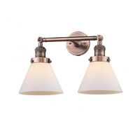 Innovations Lighting 208-AC-G41-LED Large Cone LED 18 inch Antique Copper Bath Vanity Light Wall Light Franklin Restoration