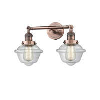 Innovations Lighting 208-AC-G532 Small Oxford 2 Light 17 inch Antique Copper Bathroom Fixture Wall Light