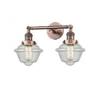 Innovations Lighting 208-AC-G534 Small Oxford 2 Light 17 inch Antique Copper Bathroom Fixture Wall Light