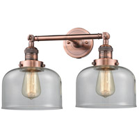 Innovations Lighting 208-AC-G72-LED Large Bell LED 19 inch Antique Copper Bath Vanity Light Wall Light Franklin Restoration
