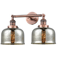 Innovations Lighting 208-AC-G78-LED Large Bell LED 18 inch Antique Copper Bathroom Fixture Wall Light
