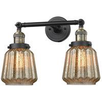 Innovations Lighting 208-BAB-G146-LED Chatham LED 16 inch Black Antique Brass Bathroom Fixture Wall Light