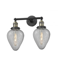 Innovations Lighting 208-BAB-G165 Geneseo 2 Light 17 inch Black Antique Brass Bath Vanity Light Wall Light Franklin Restoration