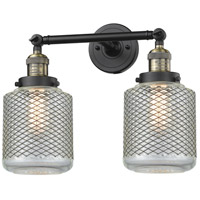 Innovations Lighting 208-BAB-G262-LED Stanton LED 16 inch Black Antique Brass Bathroom Fixture Wall Light