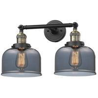 Innovations Lighting 208-BAB-G73-LED Large Bell LED 19 inch Black Antique Brass Bathroom Fixture Wall Light