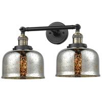Innovations Lighting 208-BAB-G78-LED Large Bell LED 18 inch Black Antique Brass Bathroom Fixture Wall Light