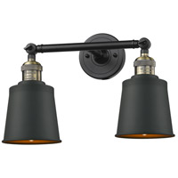 Innovations Lighting 208-BAB-M9-BAB-LED Addison LED 16 inch Black Antique Brass Bath Vanity Light Wall Light Franklin Restoration