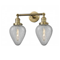 Innovations Lighting 208-BB-G165-LED Geneseo LED 17 inch Brushed Brass Bath Vanity Light Wall Light Franklin Restoration
