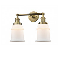 Innovations Lighting 208-BB-G181 Canton 2 Light 17 inch Brushed Brass Bath Vanity Light Wall Light Franklin Restoration