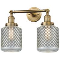 Innovations Lighting 208-BB-G262-LED Stanton LED 16 inch Brushed Brass Bathroom Fixture Wall Light