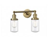 Innovations Lighting 208-BB-G312-LED Dover LED 14 inch Brushed Brass Bath Vanity Light Wall Light Franklin Restoration