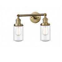 Innovations Lighting 208-BB-G314-LED Dover LED 14 inch Brushed Brass Bath Vanity Light Wall Light Franklin Restoration