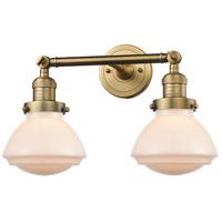 Innovations Lighting 208-BB-G321 Olean 2 Light 17 inch Brushed Brass Bath Vanity Light Wall Light, Franklin Restoration