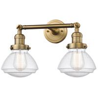 Innovations Lighting 208-BB-G324 Olean 2 Light 17 inch Brushed Brass Bath Vanity Light Wall Light Franklin Restoration