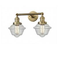 Innovations Lighting 208-BB-G534 Small Oxford 2 Light 17 inch Brushed Brass Bathroom Fixture Wall Light