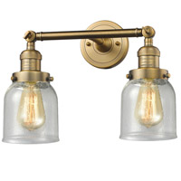 Innovations Lighting 208-BB-G54-LED Small Bell LED 16 inch Brushed Brass Bathroom Fixture Wall Light
