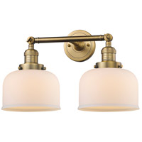 Innovations Lighting 208-BB-G71-LED Large Bell LED 19 inch Brushed Brass Bathroom Fixture Wall Light