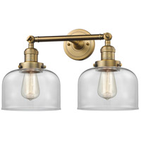 Innovations Lighting 208-BB-G72-LED Large Bell LED 19 inch Brushed Brass Bathroom Fixture Wall Light