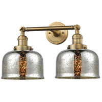 Innovations Lighting 208-BB-G78-LED Large Bell LED 18 inch Brushed Brass Bathroom Fixture Wall Light