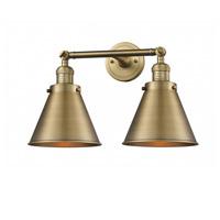 Innovations Lighting 208-BB-M13-BB Appalachian 2 Light 18 inch Brushed Brass Bath Vanity Light Wall Light Franklin Restoration