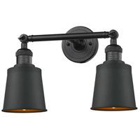 Innovations Lighting 208-BK-M9-BK Addison 2 Light 16 inch Matte Black Bathroom Fixture Wall Light