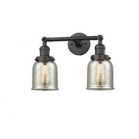 Innovations Lighting 208-OB-G58-LED Small Bell LED 15 inch Oil Rubbed Bronze Bath Vanity Light Wall Light Franklin Restoration