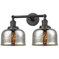 Innovations Lighting 208-OB-G78-LED Large Bell LED 18 inch Oil Rubbed Bronze Bathroom Fixture Wall Light