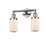 Innovations Lighting 208-PC-G311 Dover 2 Light 14 inch Polished Chrome Bath Vanity Light Wall Light Franklin Restoration