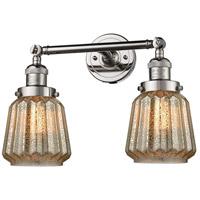 Innovations Lighting 208-PN-G146-LED Chatham LED 16 inch Polished Nickel Bath Vanity Light Wall Light Franklin Restoration