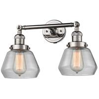 Innovations Lighting 208-PN-G172-LED Fulton LED 17 inch Polished Nickel Bath Vanity Light Wall Light Franklin Restoration