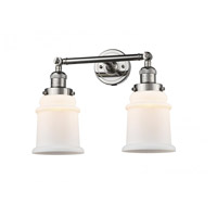Innovations Lighting 208-PN-G181 Canton 2 Light 17 inch Polished Nickel Bath Vanity Light Wall Light Franklin Restoration