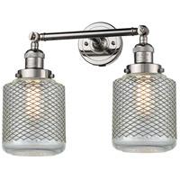 Innovations Lighting 208-PN-G262-LED Stanton LED 16 inch Polished Nickel Bathroom Fixture Wall Light
