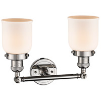 Innovations Lighting 208-PN-G51-LED Small Bell LED 16 inch Polished Nickel Bath Vanity Light Wall Light, Franklin Restoration alternative photo thumbnail