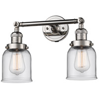 Innovations Lighting 208-PN-G52-LED Small Bell LED 16 inch Polished Nickel Bathroom Fixture Wall Light