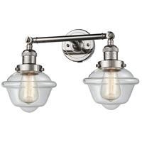 Innovations Lighting 208-PN-G532-LED Small Oxford LED 17 inch Polished Nickel Bathroom Fixture Wall Light