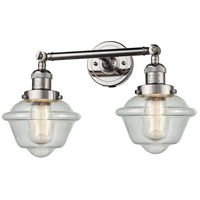 Innovations Lighting 208-PN-G534-LED Small Oxford LED 17 inch Polished Nickel Bathroom Fixture Wall Light