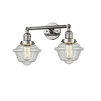 Innovations Lighting 208-PN-G534 Small Oxford 2 Light 17 inch Polished Nickel Bathroom Fixture Wall Light