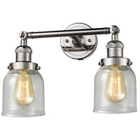Innovations Lighting 208-PN-G54-LED Small Bell LED 16 inch Polished Nickel Bathroom Fixture Wall Light