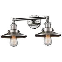 Innovations Lighting 208-PN-M1-LED Railroad LED 18 inch Polished Nickel Bath Vanity Light Wall Light Franklin Restoration