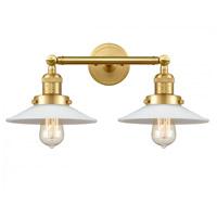 Innovations Lighting 208-SG-G1 Halophane 2 Light 18 inch Satin Gold Bath Vanity Light Wall Light