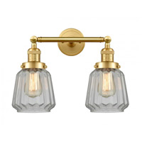 Innovations Lighting 208-SG-G142-LED Chatham LED 16 inch Satin Gold Bath Vanity Light Wall Light