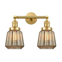 Innovations Lighting 208-SG-G146-LED Chatham LED 16 inch Satin Gold Bath Vanity Light Wall Light