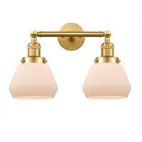 Innovations Lighting 208-SG-G171-LED Fulton LED 17 inch Satin Gold Bath Vanity Light Wall Light