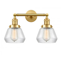 Innovations Lighting 208-SG-G172-LED Fulton LED 17 inch Satin Gold Bath Vanity Light Wall Light