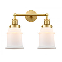 Innovations Lighting 208-SG-G181-LED Canton LED 17 inch Satin Gold Bath Vanity Light Wall Light