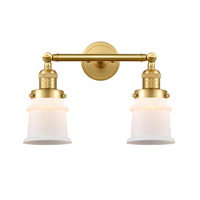 Innovations Lighting 208-SG-G181S-LED Small Canton LED 17 inch Satin Gold Bath Vanity Light Wall Light