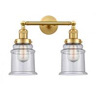 Innovations Lighting 208-SG-G184-LED Canton LED 17 inch Satin Gold Bath Vanity Light Wall Light