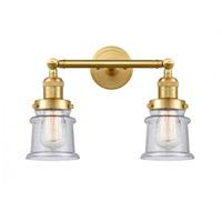 Innovations Lighting 208-SG-G184S-LED Small Canton LED 17 inch Satin Gold Bath Vanity Light Wall Light